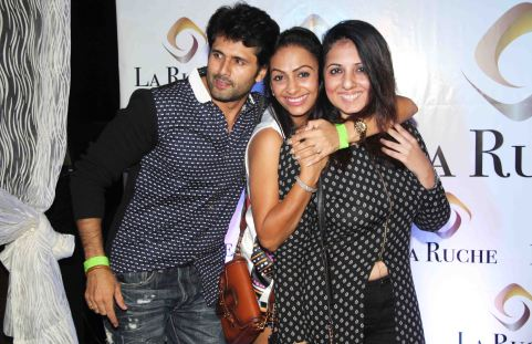 Shobhit Attray with friends at the Six Months Completion Celebration of La Ruche, Bandra