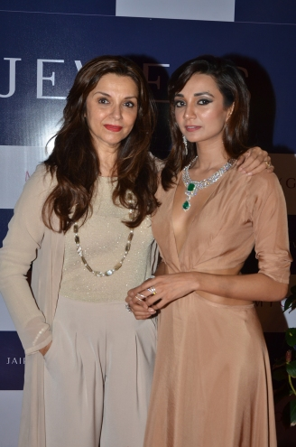 Lilette Dubey with daughter Ira Dubey at Jaipur Jewels Myga Collection Launch